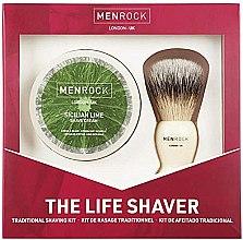 Profumi e cosmetici Set - Men Rock The Life Shaver Sicilian Lime Kit (brush/1pcs + sh/cr/100ml)