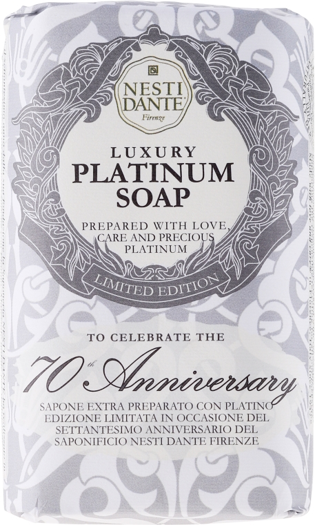 "Sapone ""Platino"" - Nesti Dante Luxury Platinum Soap 70th Anniversary"