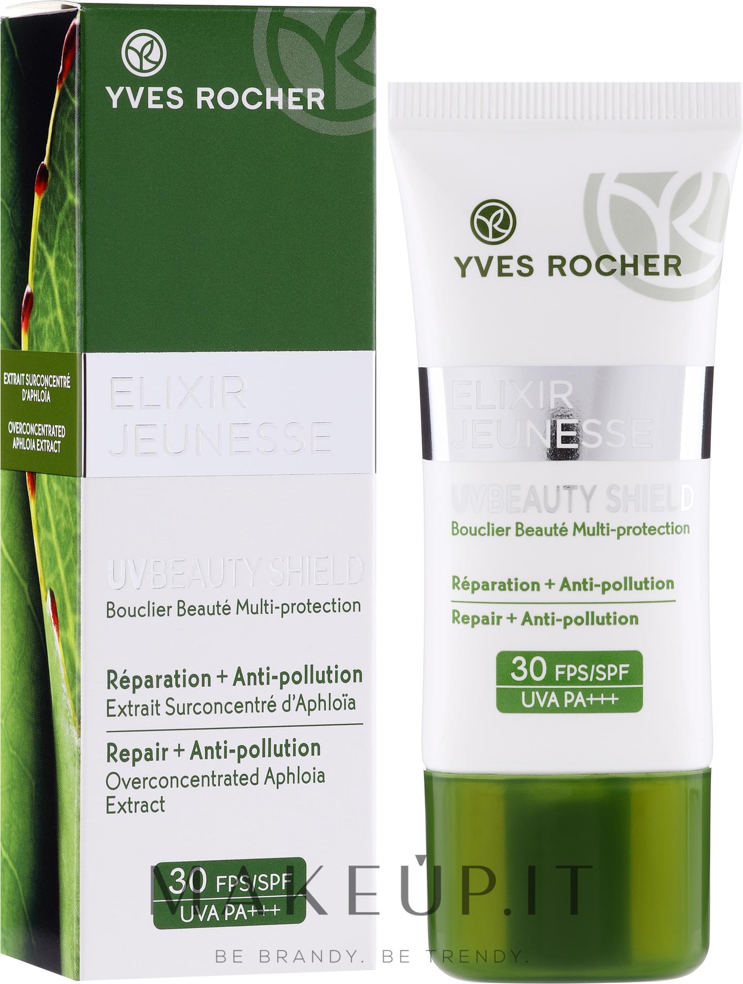 Crema viso protettiva - Yves Rocher Elixir Jeunesse UV Beauty Shield SPF30 — foto 30 ml