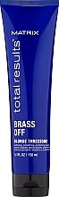 Profumi e cosmetici Crema nutriente con protezione termica per capelli biondi - Matrix Total Results Brass Off Blonde Threesome