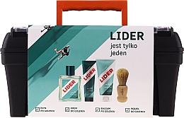 Profumi e cosmetici Set - Lider Classic Tool Box Set (ash/lot/100ml + sh/cr/65g + ash/balm/100ml + sh/brush + case)