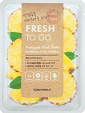 Profumi e cosmetici Maschera in tessuto rinfrescante all'ananas - Tony Moly Fresh To Go Mask Sheet Pineapple