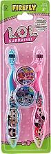 Profumi e cosmetici Set spazzolini da denti, morbidi, blu e rosa - Ep Line LOL Surprise (toothbrush/2szt + case/2szt)