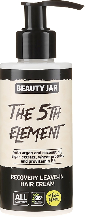 "Crema rigenerante per capelli ""The 5th Element"" - Beauty Jar Recovery Leave-In Hair Cream"