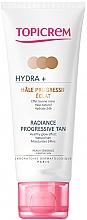 Profumi e cosmetici Crema autoabbronzante per viso e collo - Topicrem Hydra+ Radiance Progressive Tan