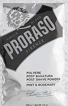 Profumi e cosmetici Polvere dopobarba con menta e rosmarino - Proraso Mint & Rosemary Post Shave Powder