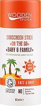 Profumi e cosmetici Stick solare - Wooden Spoon Sunscreen Stick On The Go SPF 45