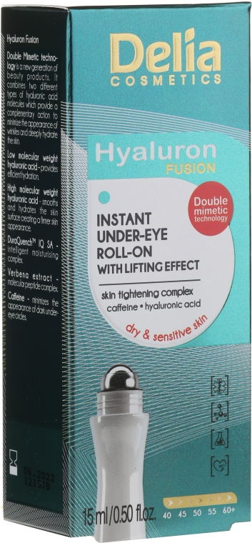Gel-lifting contorno occhi - Delia Lifting Roll-On 3D Hyaluron Gel