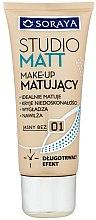 Profumi e cosmetici Fondotinta - Soraya Podkłady Studio Matt Make-up Matting