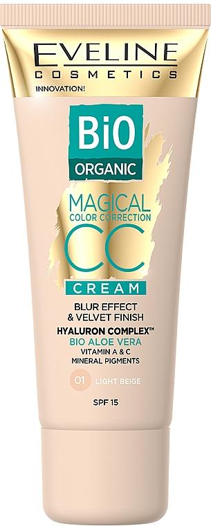 CC Crema - Eveline Cosmetics Bio Organic Magical CC Cream SPF 15