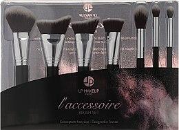 Profumi e cosmetici Set di pennelli per il trucco, 7 pezzi. - LP Makeup Set Of Seven Professional Brushes L'accessoire With Leather Bag