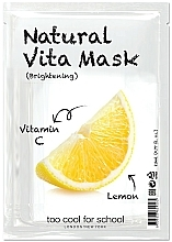 "Profumi e cosmetici Maschera in tessuto illuminante ""Limone"" con vitamina C - Too Cool For School Natural Vita Mask Brightening"