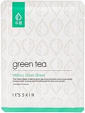 Profumi e cosmetici Maschera in tessuto per pelle grassa e mista con estratto di tè verde - It's Skin Green Tea Watery Mask Sheet