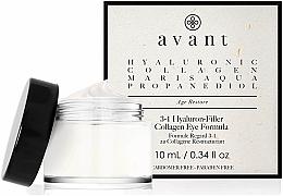 Profumi e cosmetici Crema contorno occhi 3 in 1 con acido ialuronico - Avant Skincare 3-1 Hyaluron-Filler Collagen Eye Formula