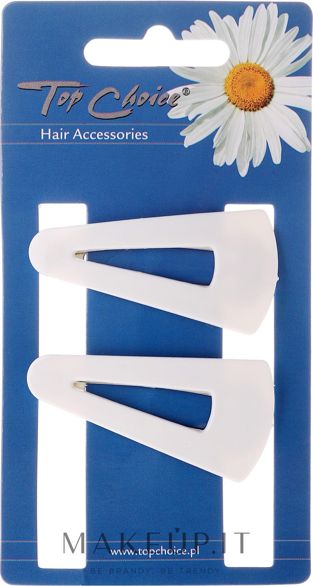 "Fermacapelli ""White Collection"", 23583, bianca, 2 pz - Top Choice — foto 2 pz."