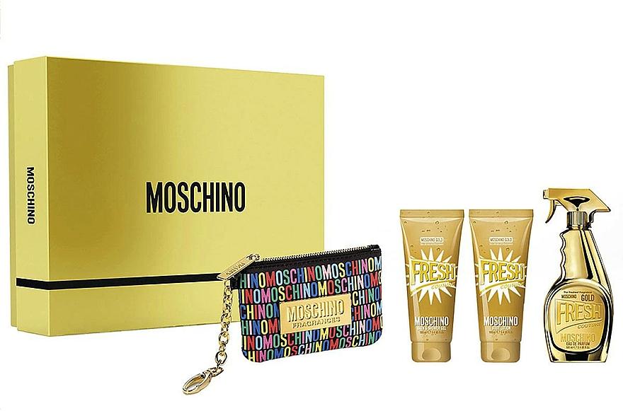 Moschino Gold Fresh Couture - Set (edp/100ml + b/lot/100ml + s/gel/100 ml + bag)