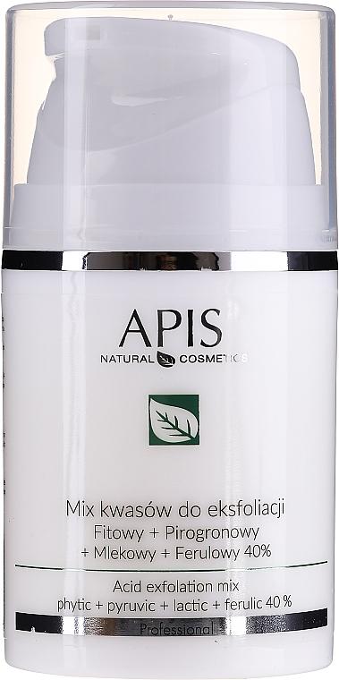 Miscela di acidi per peeling - APIS Professional Fit + Pirpgron + Milk + Ferulic 40%