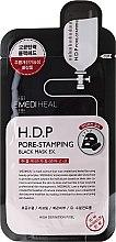 Profumi e cosmetici Maschera in tessuto - Mediheal H.D.P. Pore-Stamping Black Mask EX