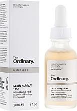 Profumi e cosmetici Siero peeling viso all'acido lattico - The Ordinary Lactic Acid 5% + HA 2%