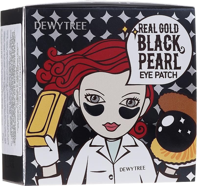 Patch occhi con estratto di oro e perle nere - Dewytree Real Gold Black Pearls Eye Patch