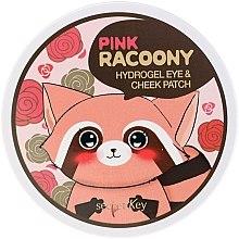 Profumi e cosmetici Idrogel patch contorno occhi e zigomi - Secret Key Pink Racoony Hydro-Gel Eye & Cheek Patch