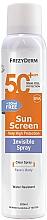 Profumi e cosmetici Crema solare per viso e corpo - Frezyderm Sun Screen Invisible SPF50+ Spray