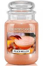 Profumi e cosmetici Candela profumata in vetro - Country Candle Peach Bellini