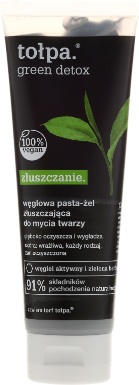 Pasta viso detox al carbonio - Tolpa Green Detox Paste