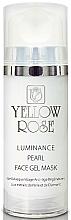 Profumi e cosmetici Maschera viso in gel con perle e polvere di diamante - Yellow Rose Luminance Pearl Face Gel Mask