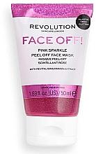 Profumi e cosmetici Maschera viso peeling - Revolution Skincare Face Off! Pink Glitter Face Off Mask