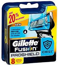 Profumi e cosmetici Lamette di ricambio, 8 pz. - Gillette Fusion ProShield Chill