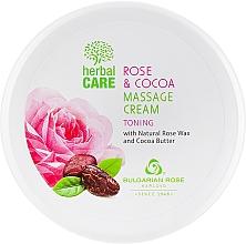 Profumi e cosmetici Crema da massaggio ad effetto tonico - Bulgarian Rose Herbal Care Rose & Cococa Massage Cream