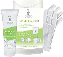 Profumi e cosmetici Set per mani - Bioturm Hand Care Set (cr/50ml + gloves)