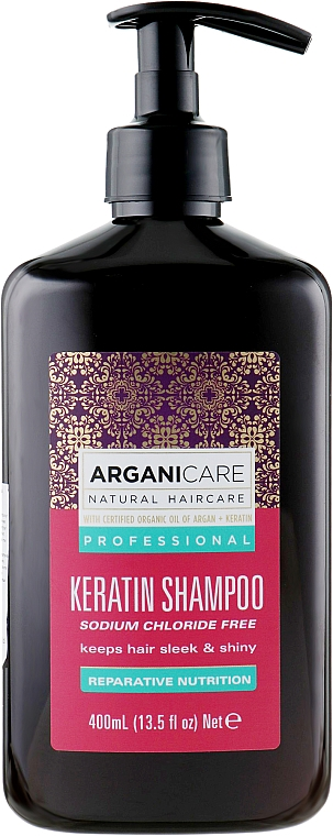 Shampoo alla cheratina per tutti i tipi di capelli - Arganicare Keratin Shampoo
