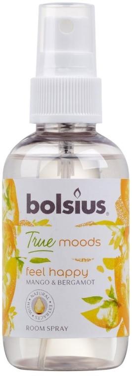 """Spray profumato """"Mango e bergamotto"""" - Bolsius Room Spray True Moods Feel Happy"""