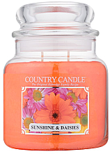 "Profumi e cosmetici Candela profumata ""Sole e margherite"" (in vetro) - Country Candle Sunshine & Daisies"