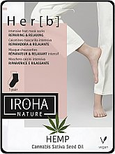 Profumi e cosmetici Maschera per piedi - Iroha Nature HEMP Cannabis Foot Mask