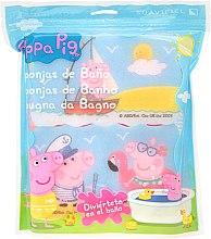 "Profumi e cosmetici Set spugne da bagno ""Peppa Pig"" 3 pezzi, mare - Suavipiel Peppa Pig Bath Sponge"