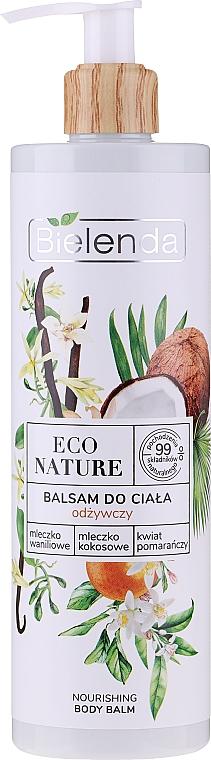 Crema corpo nutriente - Bielenda Eco Nature Vanilla Milk, Coconut Milk, Orange Blossom Nourishing Body Lotion