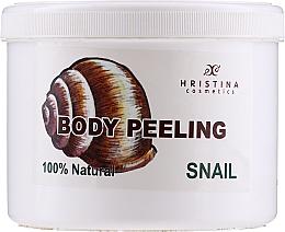 Profumi e cosmetici Peeling corpo alla bava di lumaca - Hristina Cosmetics 100% Natural Snail Body Peeling