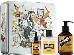 Profumi e cosmetici Set - Proraso Wood & Spice Beard Kit (balm/100ml + shmp/200ml + oil/30ml)