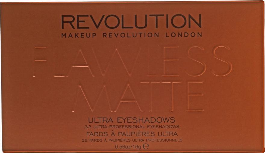 Palette ombretti, 32 tonalità - Makeup Revolution Ultra 32 Shade Palette Flawless Matte — foto N2