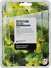 "Profumi e cosmetici Maschera in tessuto rinfrescante ""Brocoli"" - Superfood For Skin Refreshing Sheet Mask"