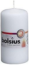 Profumi e cosmetici Candela cilindrica, bianca, 120x60 mm - Bolsius Candle