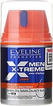 Profumi e cosmetici Crema viso rinfrescante, per uomo - Eveline Cosmetics Men X-Treme Power Cream-Gel 6In1