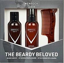 Profumi e cosmetici Set - Men Rock Soothy Beardy Beloved Oak Moss Starter Kit (b/balm/100ml + b/sh/100ml + comb/1pcs)