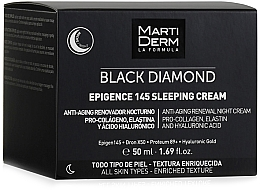 Profumi e cosmetici Crema viso da notte - MartiDerm Black Diamond Epigence 145 Sleeping Cream