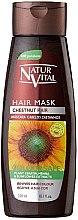 Profumi e cosmetici Maschera per preservare il colore dei capelli tinti - Natur Vital Coloursafe Henna Hair Mask Chestnut Hair