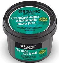 """Profumi e cosmetici Crema gel piedi """"Ci fidiamo dell'aloe"""" - Organic Shop Organic Kitchen Foot Cream-Gel"""