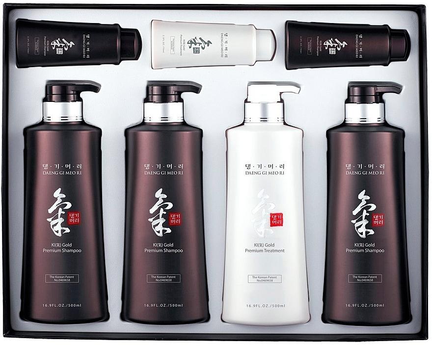 Set - Daeng Gi Meo Ri Ki Gold Hair Care Set (shm/500ml + shm/500ml + shm/500ml + cond/500ml + shm/70ml + shm/70ml + cond/70ml) — foto N1